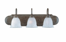 1079-3-68 Savoy House Lighting Three-Light Bathroom Wall Sconce Light with Old Stone Finish
