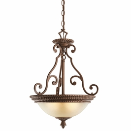 10814TZG Kichler Builder Inverted Pendant Semi Flush 1 (DISCONTINUED ITEM!)