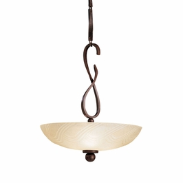 10840TZ Kichler Lighting Contours Inverted Pendant in Tannery Bronze (DISCONTINUED ITEM!)