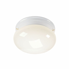 10860WH Kichler White Flush-mount 2Lt Fluorescent Ceiling Lights (DISCONTINUED ITEM!)