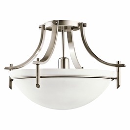 10878AP Kichler Antique Pewter Semi-flush 1Lt Fluorescent Olympia Ceiling Lights (DISCONTINUED ITEM!)