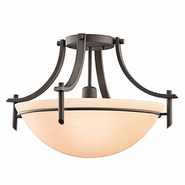 10878OZ Kichler Olde Bronze Semi-flush 1Lt Fluorescent Olympia Ceiling Lights (DISCONTINUED ITEM!)