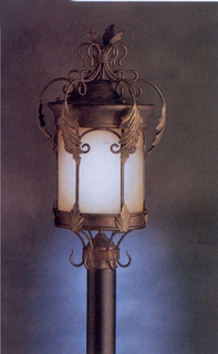 10915LZG Kichler Lighting Modesto Outdoor Post Lantern in Legecy Bronze with Gold Highlight (DISCONTINUED ITEM!)