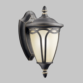 10931RNX Kichler Lighting SENNA FLUORESCENT OUTDR WALL BRACKET in Rubbed Onyx (DISCONTINUED ITEM!)