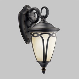10933RNX Kichler Lighting SENNA FLUORESCENT OUTDR WALL BRACKET in Rubbed Onyx (DISCONTINUED ITEM!)