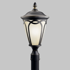 10938RNX Kichler Lighting FLUORESCENT OUTDOOR POST in Rubbed Onyx (DISCONTINUED ITEM!)