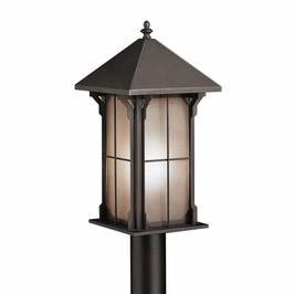 10967OZ Kichler Olde Bronze Outdoor Post Mount 1Lt Fluorescent Astoria Outdoor (DISCONTINUED ITEM!)