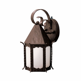 10972FZ Kichler Lighting Portolo Outdoor Wall Sconce in Franciscan Bronze (DISCONTINUED ITEM!)