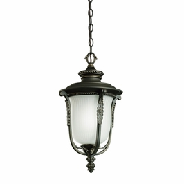 11037RZ Kichler Rubbed Bronze Outdoor Pendant 1Lt Fluorescent Luverne Outdoor (DISCONTINUED ITEM!)