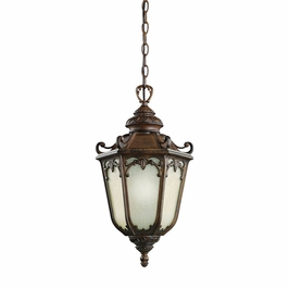 11050BST Kichler Brown Stone Outdoor Pendant 1Lt Fluorescent Mccullam Outdoor (DISCONTINUED ITEM!)