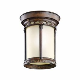 11059BST Kichler Brown Stone Outdoor Flush-mount 1Lt Fluorescent Corunna Outdoor (DISCONTINUED ITEM!)