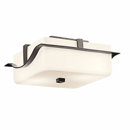 11097AZ Kichler Soft Contemporary-Casual Lifestyle 2 Light Outdoor Flush Mount (DISCONTINUED ITEM!)