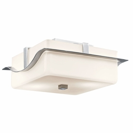 11097BA Kichler Soft Contemporary-Casual Lifestyle 2 Light Outdoor Flush Mount (DISCONTINUED ITEM!)