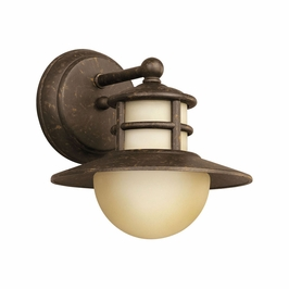 11107AGZ Kichler Aged Bronze Outdoor Wall 1Lt Fluorescent Menlo Outdoor (DISCONTINUED ITEM!)