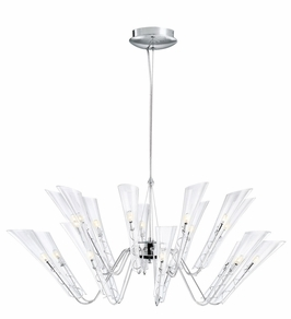 1116CH Kichler Hard Contemporary Capetto 18 Light Chandelier (DISCONTINUED ITEM!)