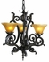 1123 Framburg Lighting Palazzo Three-Light Up Chandelier in Mahogany Bronze