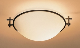 12-4251-03-G45-R Hubbardton Forge Wrought Iron Semi-Flush Moonband (Returned Product)