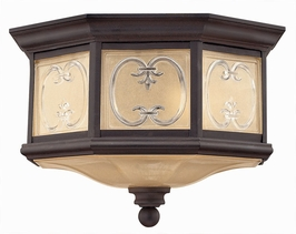 1233MR Hinkley Lighting Chateau Two Light Outdoor Flush Mount