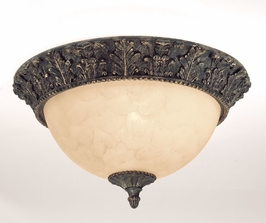 125-2-49 Savoy House Lighting Genoa Two-Light Flush Mount with Brandy Finish