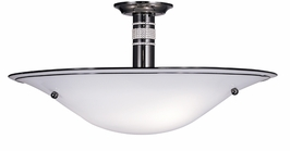 1257 Framburg Lighting Parsifal 3 Light Flush Mount and Semi-Flush Mount