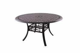 """201088-C Darlee 54"""" Round Dining Patio Table in Cast-Aluminum with an Antique Bronze Finish"""