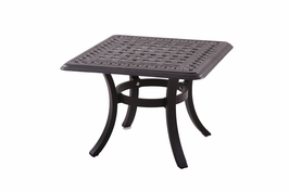 "201088-I Darlee 28"" Square Dining Patio Table in Cast-Aluminum with an Antique Bronze Finish"