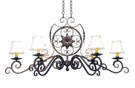 2A87187-48 2nd Ave Lighting Christabel Chandelier