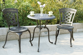 DL27 Darlee New Port Bistro Set Table and Two Chairs