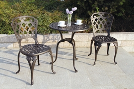 Dl29 Darlee San Marino Bistro Set Table and Two Chairs