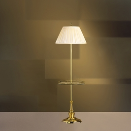 7240S Kichler Lighting New Traditions West Brass Floor Lamp with Tray in Westminster Brass (DISCONTINUED ITEM!)