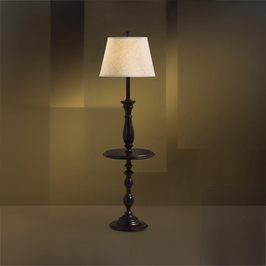 74166 Kichler Lighting New Traditions Floor Lamp with Tray in Wood (DISCONTINUED ITEM!)