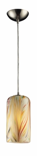 544-1MH Elk 1 Light Pendant in Satin Nickel and Molten Honey Glass (DISCONTINUED ITEM)