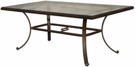 DL50-E Darlee 42 x 72 inch Aluminum Rectangular Glass Top Dining Table with an Antique Bronze Finish