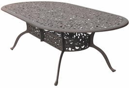 DL80-XL Darlee 48 x 96 inch Oval Dining Patio Table in Cast-Aluminum with an Antique Bronze Finish