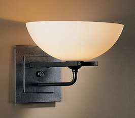 20 6452 G16 D Hubbardton Forge Lighting Direct Wire Wrought Iron Wall Sconce With Gl Display Light