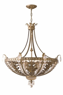 GZ-7-5052-8-34 Savoy House Lighting European Crystal Chandelier in Cast Bronze