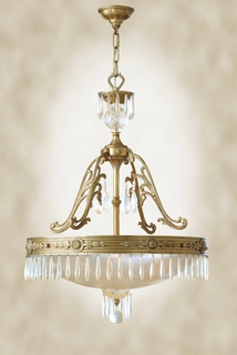 GZ-7-6011-4-34 Savoy House Lighting European Crystal Chandelier in Cast Bronze