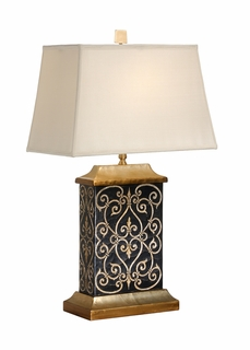 60059 Frederick Cooper Carved Seraphs Lamp