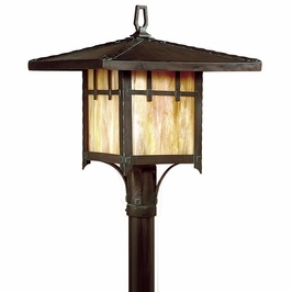 PF9407 Troy Lighting Oak Knoll Fluorescent Outdoor Post Light