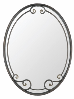 HH44030LR Quoizel Lighting Hannah Mirror with London Bronze Finish