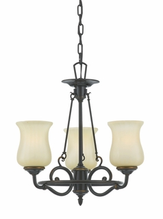 HH5003DZ Hannah Chandelier in Dark Bronze from Quoizel Lighting (CLEARANCE ITEM)