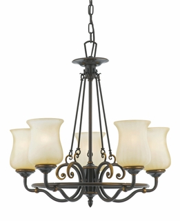 HH5005DZ-R Hannah Chandelier in Dark Bronze from Quoizel Lighting (CLEARANCE ITEM)