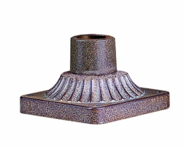 PM8680RB Troy Exterior Posts and Pier Mounts Roman Bronze Square Base Deco Detail Pier Mount