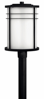 1121VK-GU24 Hinkley Ledgewood Vintage Black 120v GU24 1 Light Large Outdoor Post Fixture