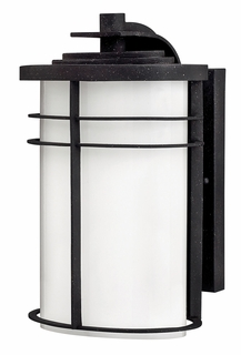 1124VK-GU24 Hinkley Ledgewood Vintage Black 120v GU24 1 Light Medium Outdoor Wall Mount