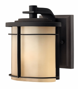 1126MR-GU24 Hinkley Ledgewood Museum Bronze 120v GU24 1 Light Mini Wall Outdoor