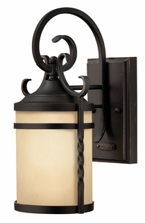 1144OL-GU24 Hinkley Casa Olde Black 120v GU24 1 Light Medium Outdoor Wall Mount