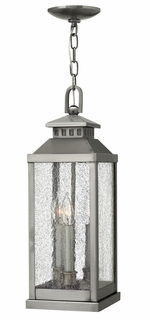 1182PW Hinkley Revere Pewter 120v Candelabra 3 Light Hanging Outdoor Fixture