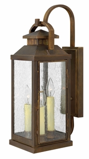1185SN Hinkley Revere Sienna 120v Candelabra 3 Light Large Outdoor Wall Fixture