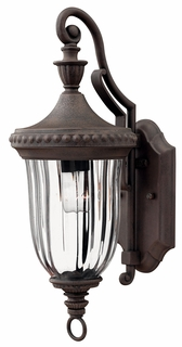 1240MN Hinkley Oxford Midnight Bronze 120v 1 Light Small Outdoor Wall Lantern